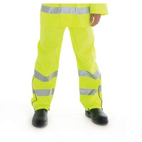 'DNC' HiVis Breathable Rain Trousers with 3M Reflective Tape