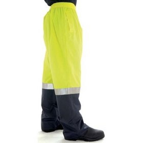 'DNC' HiVis Two Tone Lightweight Rain Pant with 3M Reflective Tape
