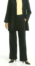 ** CLEARANCE ITEM ** - 'Totally Corporate'  Ladies Flat Front Microfibre Pant