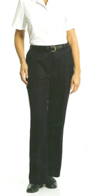 ** CLEARANCE ITEM ** - 'Totally Corporate'  Ladies Single Pleat Microfibre Pant
