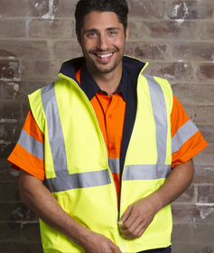 'Aussie Kings' Hi-Vis Optimus Reversible Vest with Reflective Tape