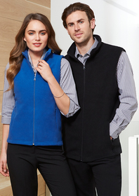 'Biz Collection' Mens Poly Fleece Vest