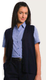 ** CLEARANCE ITEM ** - 'Totally Corporate'  Ladies Button Front V Neck Vest