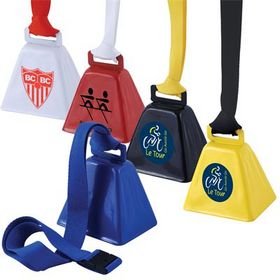 'Logo-Line' Cow Bells with Woven Lanyard