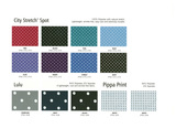 City Stretch Spot, Lulu & Pippa Print Fabric Colour Ranges  ddd