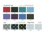 City Stretch Spot, Lulu & Pippa Print Fabric Colour Ranges  ddd