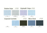 Shadow Stripe, City Health Stripe, Corporate Essentials & Micro Check Fabric Colour Ranges  ddd