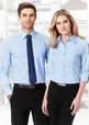 'Biz Collection' Mens Chevron Long Sleeve Shirt