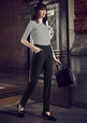 'Biz Corporate' Ladies Bandless Slimline Pant