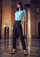 'Biz Corporate' Ladies Bandless Elastic Waist Pant