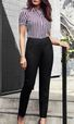 'Biz Corporate' Comfort Wool Stretch Ladies Bandless Slim Leg Pant (NEW)