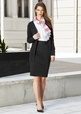 'Biz Corporate' Rococo Knit Soft Suiting Ladies Skirt with Rear Split