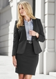 'Biz Corporate' Rococo Knit Soft Suiting Ladies Single Button Collarless Jacket