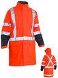 'Bisley Workwear' 3M Taped HiVis Two Tone Stretch PU Rain Jacket