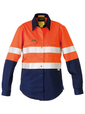 'Bisley Workwear' Ladies 3M Taped Two Tone HiVis Industrial Cool Vent Shirt
