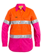 'Bisley Workwear'  Women's 3M Taped Hi Vis Cool Light Weight Shirt