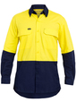 'Bisley Workwear' Two Tone Hi Vis X Airflow™ Ripstop Long Sleeve Shirt