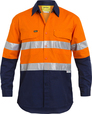 'Bisley Workwear' 3M Taped Hi Vis X Airflow™ Ripstop Long Sleeve Shirt