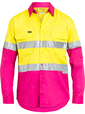 'Bisley Workwear'  Men's 3M Taped Hi Vis Cool Light Weight Shirt