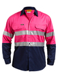 'Bisley Workwear'  Men's 3M Taped Cool Light Weight Shirt
