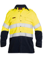 'Bisley Workwear' TenCate Tecasafe® Plus Taped 2 Tone HiVis FR Light Weight Vented Long Sleeve Shirt