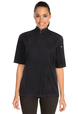 'CHEFWORKS' SPRINGFIELD Ladies Zipper Short Sleeve Chef Jacket