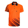 'DNC' HiVis Sublimated STRIPE Short Sleeve Polo