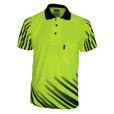 'DNC' HiVis Sublimated FULL STRIPE Short Sleeve Polo