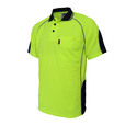 'DNC' HiVis Semicircle Piping Short Sleeve Polo