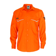 'DNC' HiVis RipStop Long Sleeve Cool Cotton Shirt