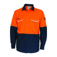 'DNC' HiVis RipStop Two Tone Long Sleeve Cool Cotton Shirt