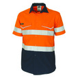 'DNC' HiVis RipStop Two Tone Short Sleeve Cool Cotton Shirt with CSR Reflective Tape