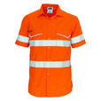 'DNC' HiVis RipStop Short Sleeve Cool Cotton Shirt CSR Reflective Tape
