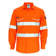 'DNC' HiVis RipStop Long Sleeve Cool Cotton Shirt CSR Reflective Tape