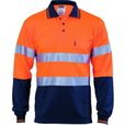 'DNC' HiVis D/N 2 Tone Cool Breathe Long Sleeve Polo