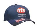 'Headwear Professionals' Brushed Cotton Waving Flag Cap