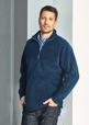 'Biz Collection' Mens Heavy Weight ½ Zip Plain Poly Fleece Top