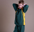 'Bocini' Kids Track Suit Jacket with Contrast Panels