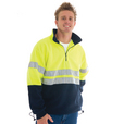 'DNC' HiVis Two Tone 1/2 Zip Polar Fleece with 3M 8906 Reflective Tape
