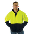 'DNC' HiVis Two Tone ½ Zip Reflective Piping Sweat Shirt