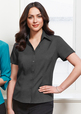 'Biz Collection' Ladies Plain Oasis Short Sleeve Shirt