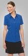 'City Collection' Ladies Short Sleeve Ezylin Stripe Shirt