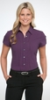 'City Collection' Ladies Cap Sleeve City Stretch Spot Shirt