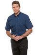 'City Collection' Mens Short Sleeve Micro Check Shirt