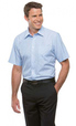 'City Collection' Mens Short Sleeve Shadow Stripe Shirt