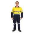 'DNC' HiVis Cool Breeze Two Tone Lightweight Cotton Coverall with 3M Reflective Tape