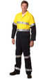 'Winning Spirit' Mens HiVis Two Tone Coverall Regular Size with Reflective Tape