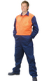 'Winning Spirit' Mens HiVis Action Back Coverall In Heavy Cotton Pre-Shrunk Drill Stout Size