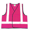 'On Site Safety'  PINK Taped Safety Vest