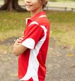 'Bocini' Kids Breezeway Contrast Polo